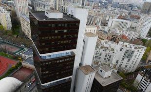 Vue aérienne de la fac de Tolbiac à Paris. (Illustration)