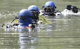 Des plongeurs de la gendarmerie sont mobilisés. Illustration.