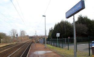 La halte ferroviaire de Cesson-Sévigné où l'accident s'est produit.