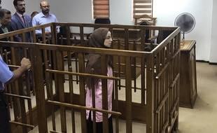 Bagdad (Irak), le 17 avril 2018. Djamila Boutoutaou a été condamnée à la prison à vie pour son appartenance à Daesh.