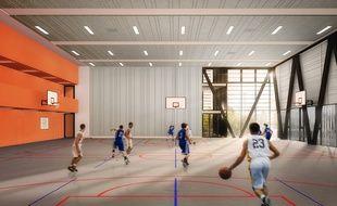 La salle de basket offrira une vue sur l'esplanade de Gaulle.