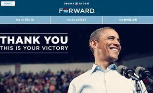 Capture d'écran du site BarackObama.com.