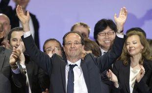 François Hollande, le 6 mai 2012, place de la Bastille, à Paris.
