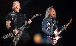 James Hetfield et Kirk Hammett de Metallica.