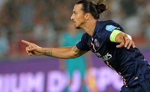 Zlatan Ibrahimovic lors de la finale du Trophée des Champions contre Guingamp, le 2 août 2014.