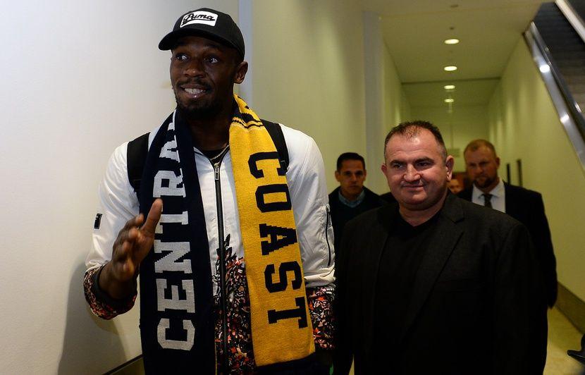 """Résultat de recherche d'images pour """"Football: Usain Bolt est arrivé en Australie pour lancer sa carrière professionnelle"""""""