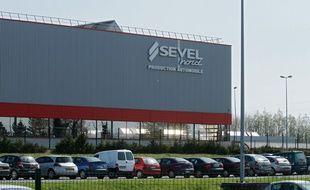 L'usine Sevelnord, du groupe PSA, à Lieu-Saint-Amand dans le Nord.