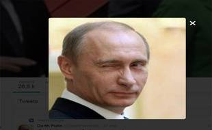La photo de profil du compte parodique @DarthPutinKGB.