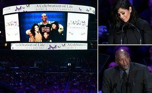 Vanessa Bryant et Michael Jordan ont rendu hommage à Kobe Bryant lors d'une cérémonie au Staples Center, le 24 février 2020.