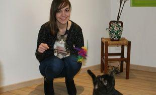 A 22 ans, Clémence Gibiat, Lyonnaise est devenue conseillère en comportement pour chat.