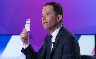Benoît Hamon lors d'une émission de télévision.