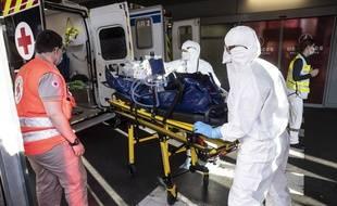 Un transfert de patient à Strasbourg.