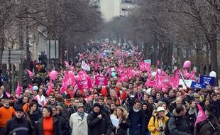 Manifestation contre le mariage pour tous à Paris, dimanche 13janvier.