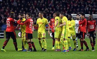 Explication de texte lors du dernier Rennes-Nantes, le 28 janvier 2017.