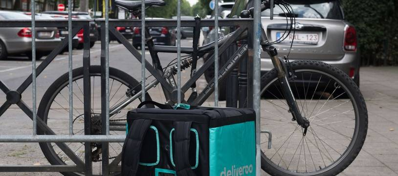 Illustration d'un vélo de livraison Deliveroo.