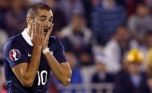 Karim Benzema lors de Serbie-France le 7 septembre 2014.