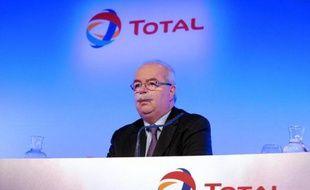 Christophe de Margerie lors d'une conférence de presse le 13 février 2014 à Paris