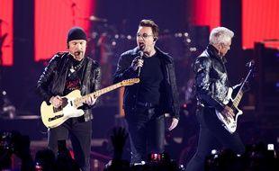 Le groupe U2 en concert, le 23 septembre 2016 à Las Vegas.