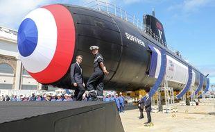 Emmanuel Macron était à Cherbourg, vendredi matin, pour le lancement du