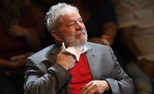 L'ancien président brésilien Luiz Inacio Lula da Silva, le 2 avril 2018, à Rio de Janeiro, au Brésil.