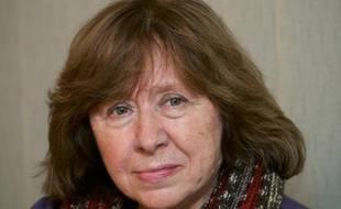 L'écrivaine bélarusse Svetlana Alexievitch à Minsk le 14 novembre 2014