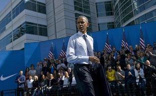 Le président Barack Obama a parlé de politique commercial, le 8 mai 2015 au siège de Nike à Beaverton, dans l'Oregon