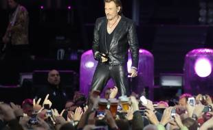 Johnny Hallyday en concert à Namur (Belgique) en juin 2013.