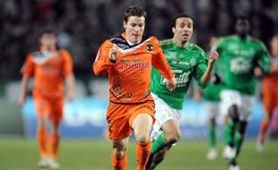 L'attaquant de Lorient, Kevin Gameiro, le 22 novembre 2009 à Saint-Etienne.