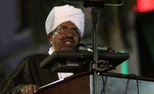 Le président soudanais Omar el-Béchir le 31 décembre 2014 à Khartoum
