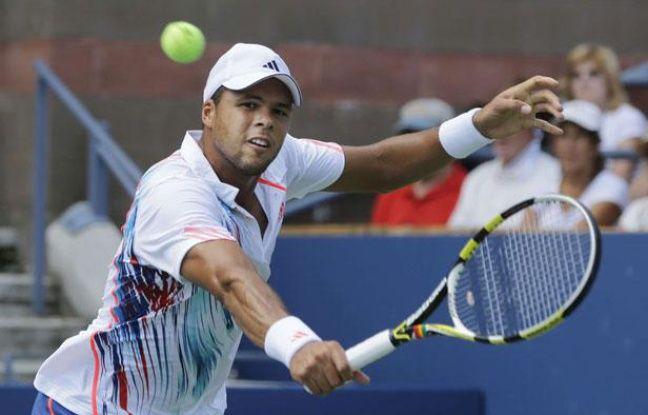 Jo-Wilfried Tsonga à l'US Open à New-York, le 28 août 2012.
