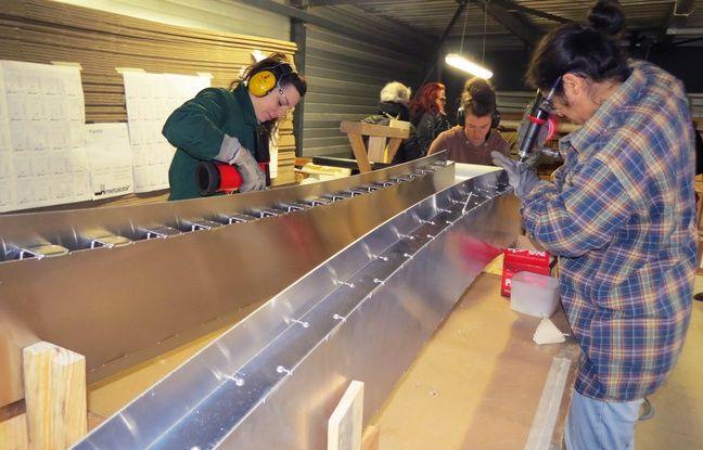Le Vaisseau spatial nécessite le façonnage de 1500 lames d'aluminium.