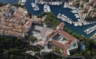 Vue aérienne du palais princier de Monaco, le 20 septembre 2013