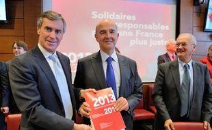 Moscovici et Cahuzac présentent le projet de loi de Finances pour le compte du budget 2013
