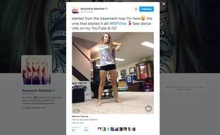 La «vineuse» Amymarie Gaertner réagit à la fermeture de Vine par Twitter.