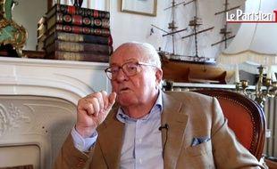 Jean-Marie Le Pen interviewé par «Le Parisien» le 3 octobre 2016.