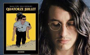 La couverture de la BD « Quatorze juillet » et Bastien Vivès, l'un de ses coauteurs
