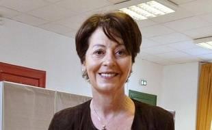 Adeline Hazan, ancienne maire PS de Reims, le 30 mars 2014.