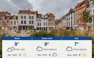 Météo Lille: Prévisions du mercredi 15 janvier 2020