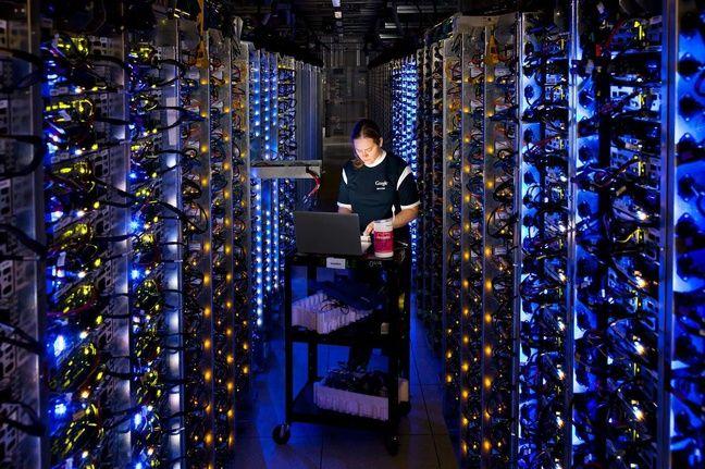 Un data center de Google, The Dalles, dans l'Oregon (USA).