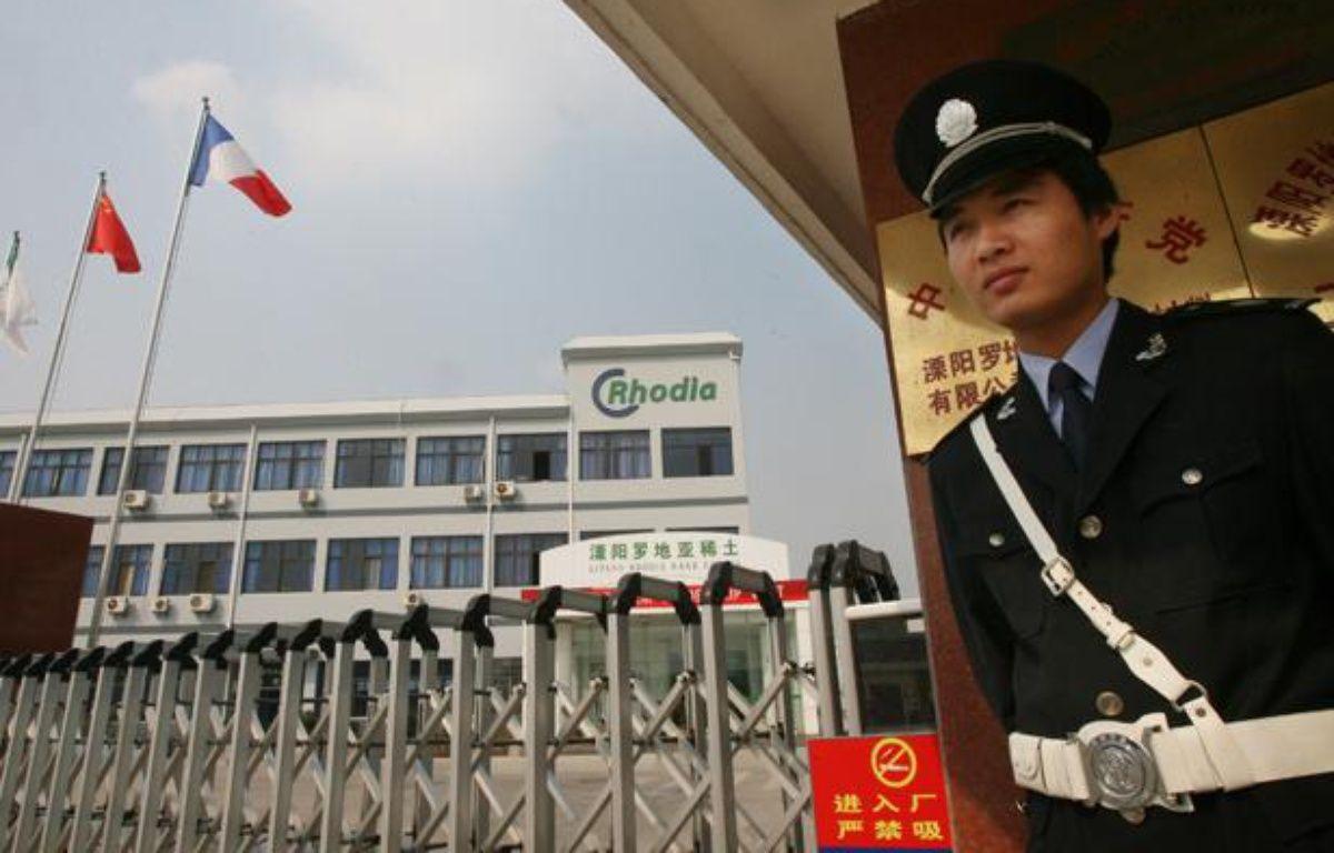 Un site du géant français de la chimie Rhodia, à Liyang, en Chine. – AFP PHOTO/Mark RALSTON