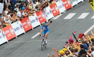 Thomas Voeckler, mercredi dernier, vainqueur de l'étape du Tour de France entre Le Cap d'Agde et Perpignan.