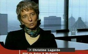 Capture d'écran d'une vidéo d'archive du premier passage de Christine Lagarde à la télévision française, au JTde France 2 la 14 octobre 1999