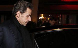 Nicolas Sarkozy à Paris, le 28 janvier 2013.