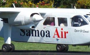 Capture d'écran du site de la compagnie aérienne Samoa Air présentant l'un de ses avions.
