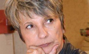 Corinne Versigny, secrétaire départementale de la CGT en Gironde.  AFP PHOTO / MEHDI FEDOUACH