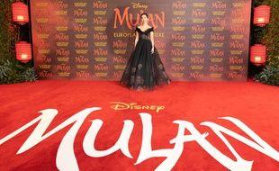 L'actrice Liu Yifei lors de la première à Londres du film «Mulan», le 12 mars 2020.