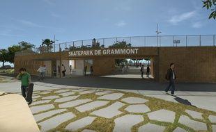 L'entrée du futur skatepark de Montpellier