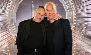 Thierry Ardisson et Laurent Baffie dans «salut les Terriens» sur C8