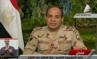 Capture d'écran en date du 26 mars 2014 du général Abdel Fattah al-Sissi