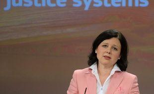 La Commissaire européenne à la justice Vera Jourova, à Bruxelles le 9 mars 2015.